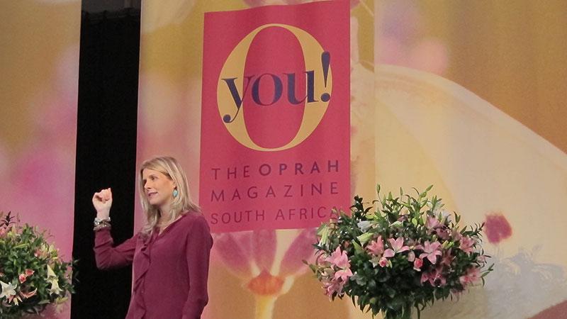 Ariane de Bonvoisin Speaks at The Oprah Magazine South Africa