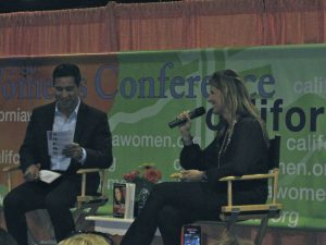 Ariane and Mario Lopez at The California Women's Conference
