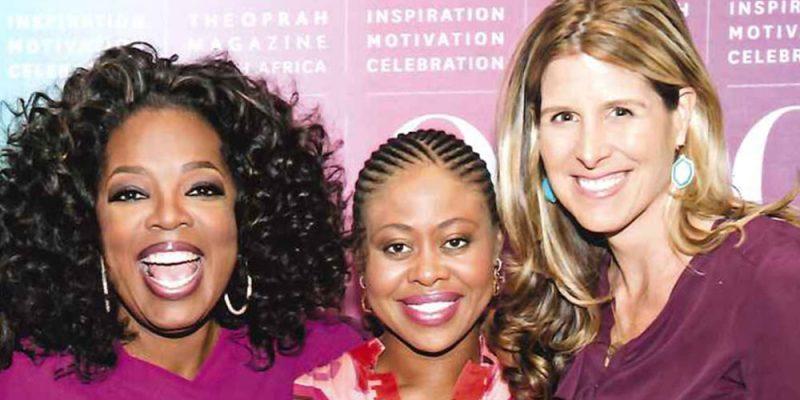 Oprah, Redi Tlhabi & Ariane de Bonvoisin